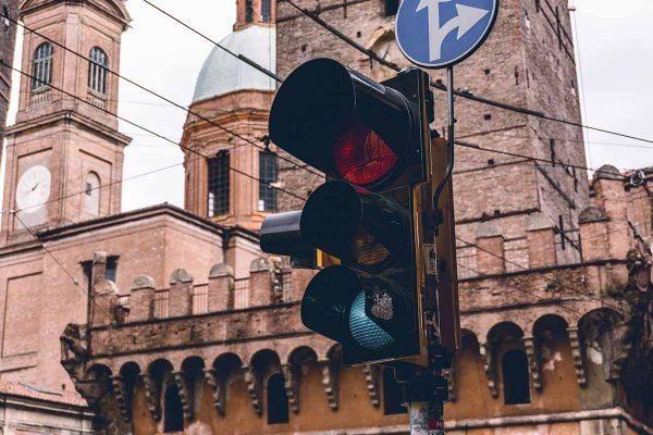 Traffic light in Bologna