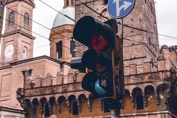 Semáforo en Bologna