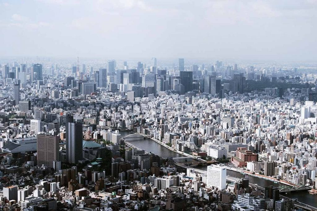 Vista aerea ciudad