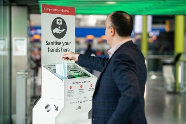 estaciones de 'parada en boxes' para desinfección