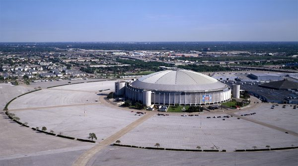 Aerial view of the Astrodome