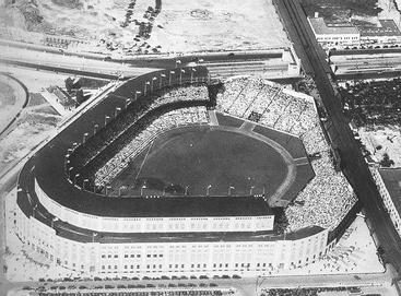 Aerial view of Yankee Stadium, c 1928