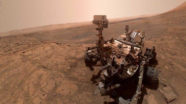 Imagen real de un selfi tomado por el rover Curiosity