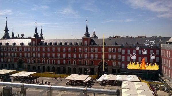 great fire of Madrid's Plaza Mayor