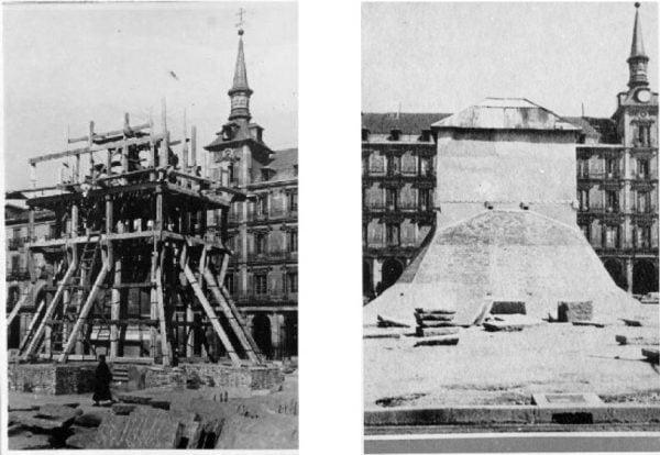 La Plaza Mayor durante la Guerra Civil
