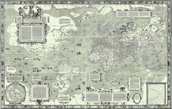 Mercator's 1569 world map.