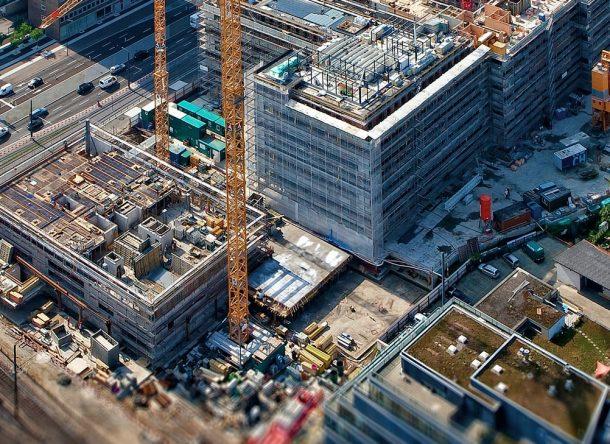 Vista aérea de una obra