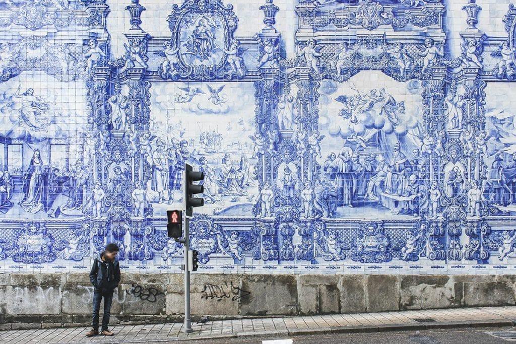 Azulejos de edificio de la Estación de Porto-São Bento