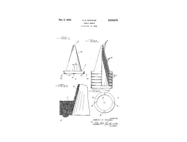 la primera patente del cono de goma de Scanlon