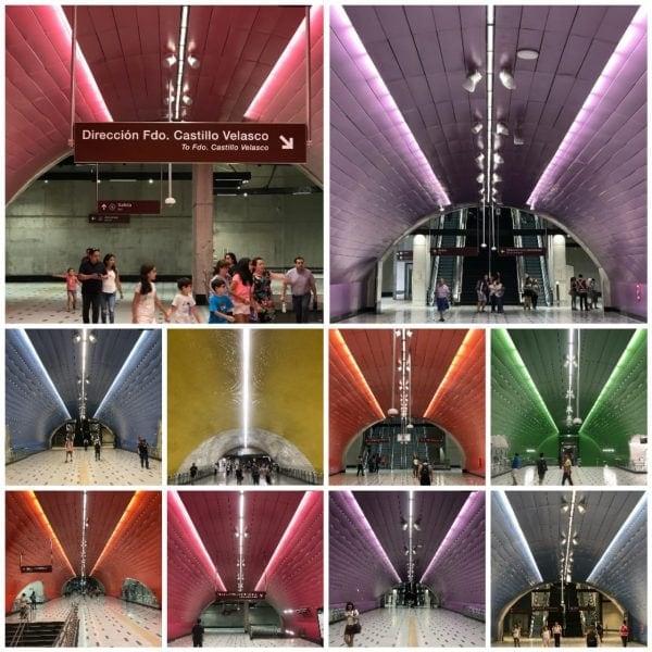 El metro en Santiago de Chile