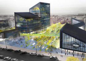 el nuevo edificio de oficinas del Metro de Madrid