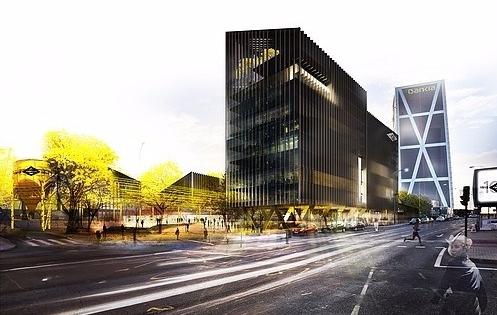 Vista del nuevo edificio de Metro de Madrid