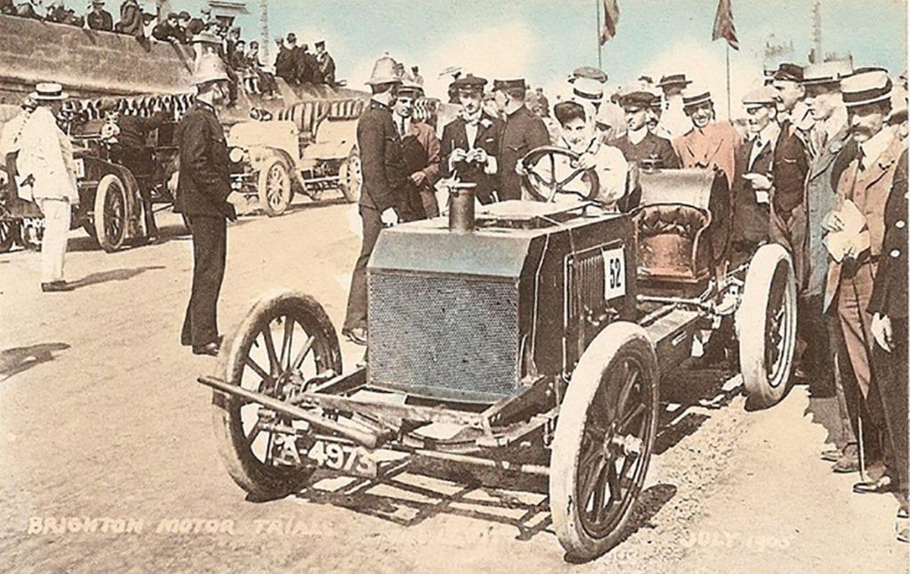Dorothy Levitt driving a Napier at Brighton