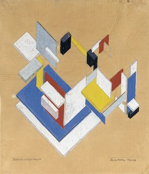Theo Van Doesburg Construction in Space-Time 1924