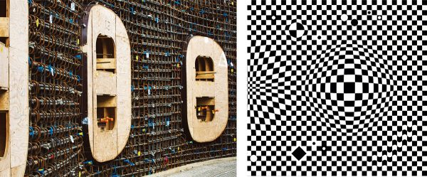 the image of the Reinforcement in Neutral Beam Cell openings (photographed below) and Vasarely's Vega, from Album I in 1955.