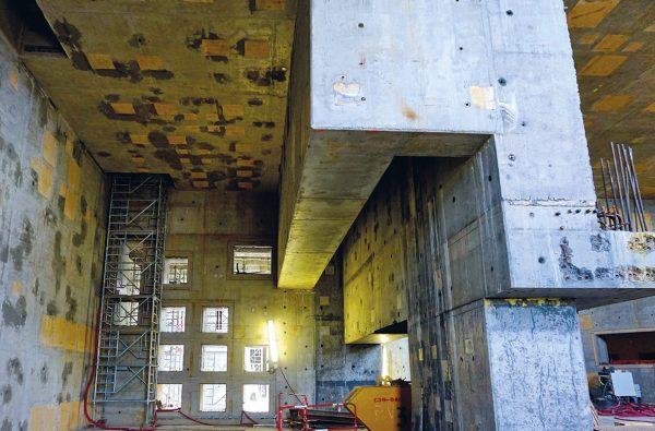 Detalle del hormigón en el área L3M.