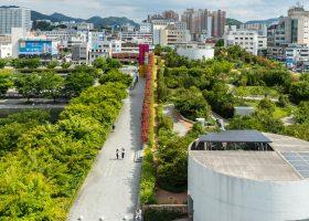 Una ciudad llena de vegetación