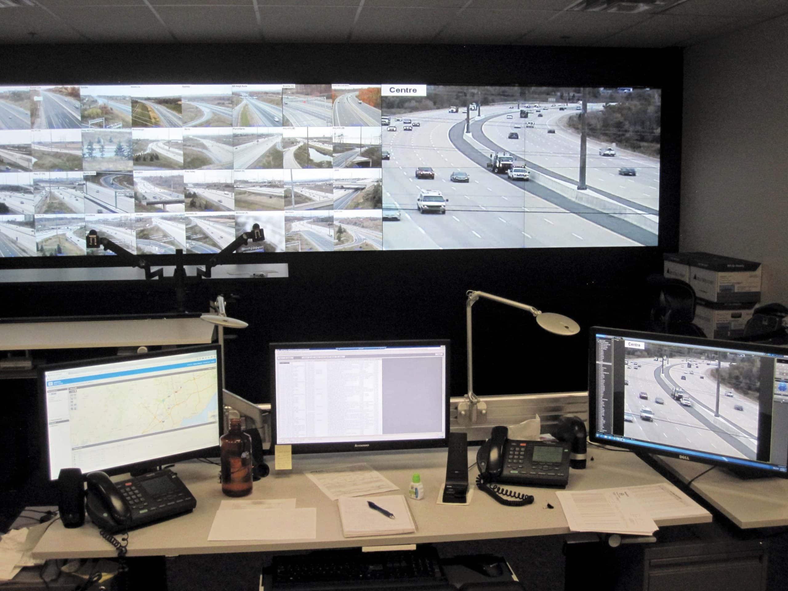 Sala control pantallas