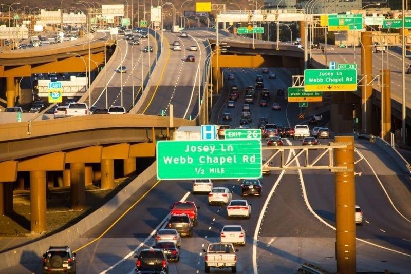 american highways LBJ Express Dallas