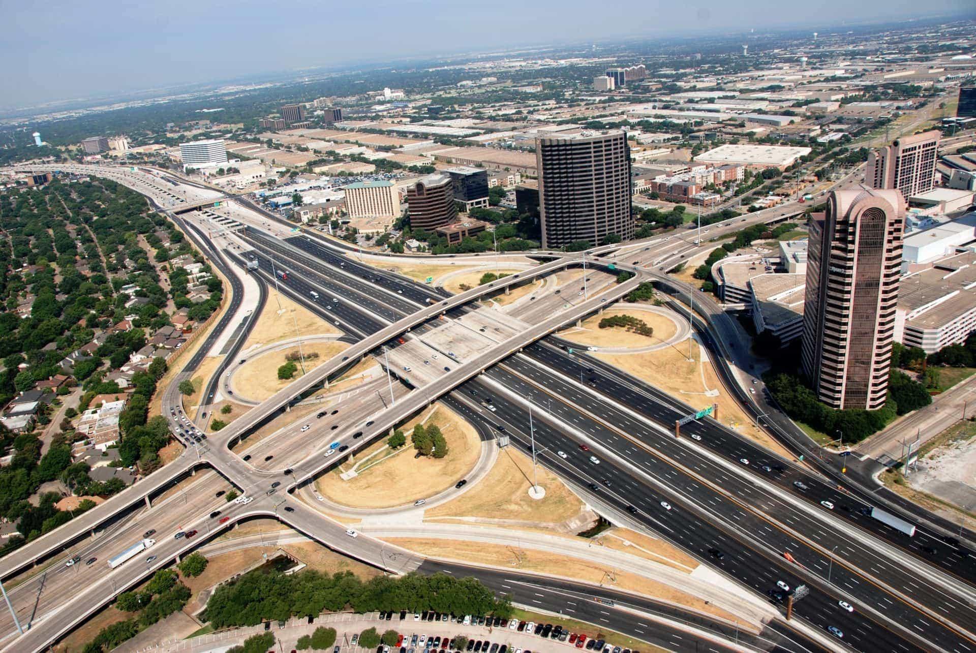 LBJ highway in Dallas Texas