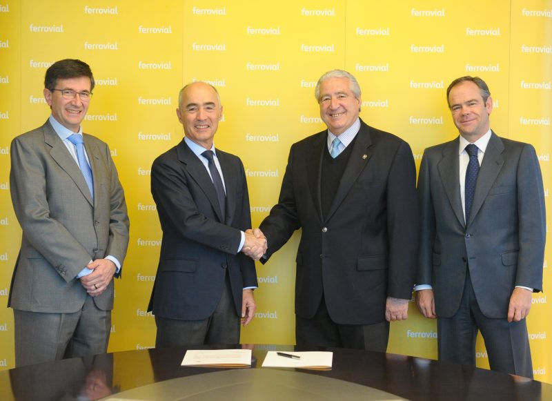 Firma Convenio Ferrovial Cáritas