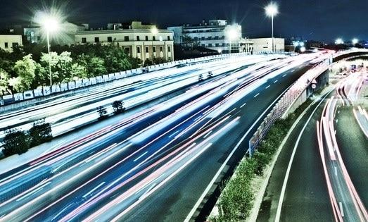 M30 Madrid durante la noche