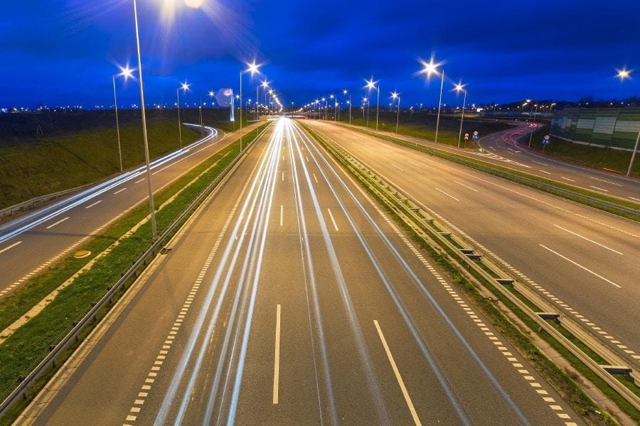 Una carretera en Gdansk Polonia