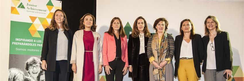 Las mujeres ejecutivas involucradas en el programa Orienta-T que tuvo lugar en Madrid