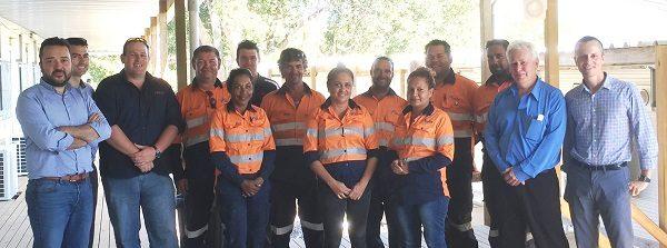 El equipo Ferrovial Agroman en Australia