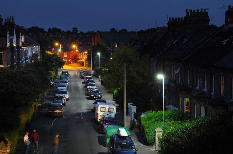 alumbrado público en manchester actualizado a tecnología LED