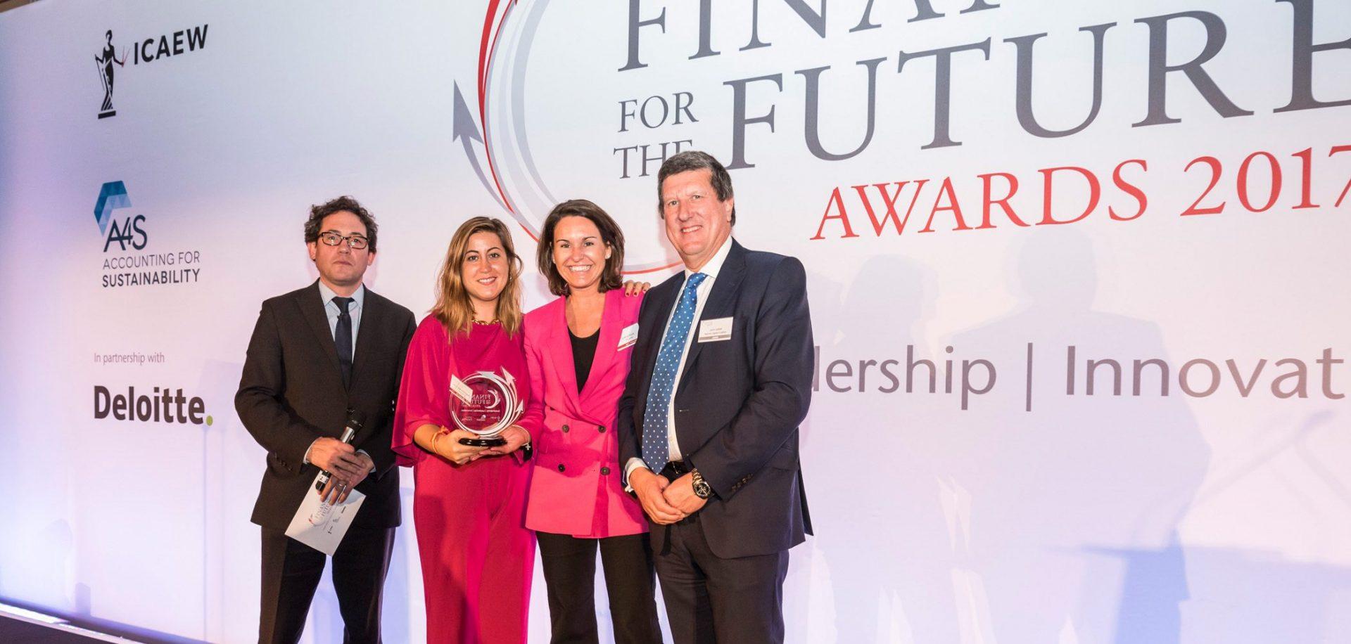 Ferrovial, galardonada en los Finance for the Future Awards