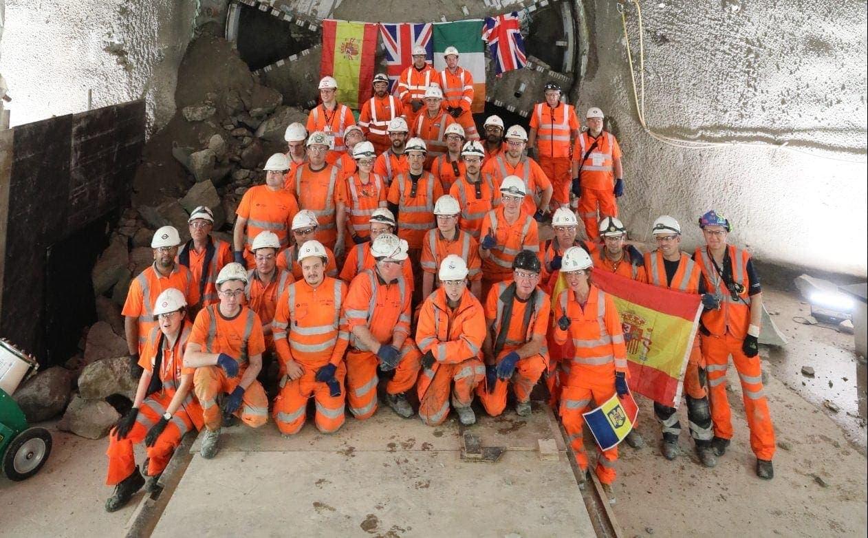 construccion metro de londres tuneladoras