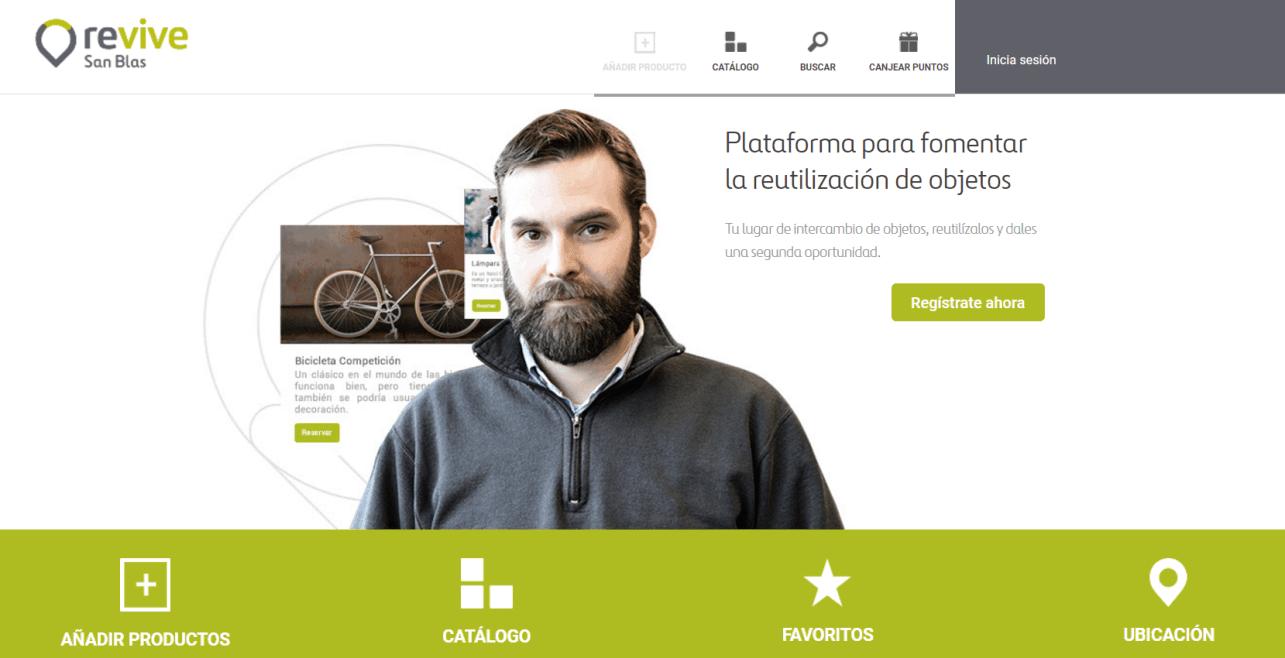 app y web reutilización de objetos Revive San Blas