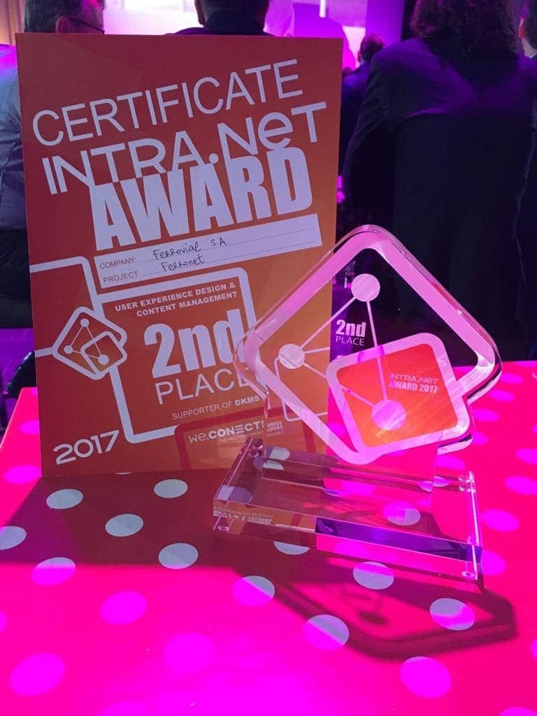 intra.net reloaded 2017 premio