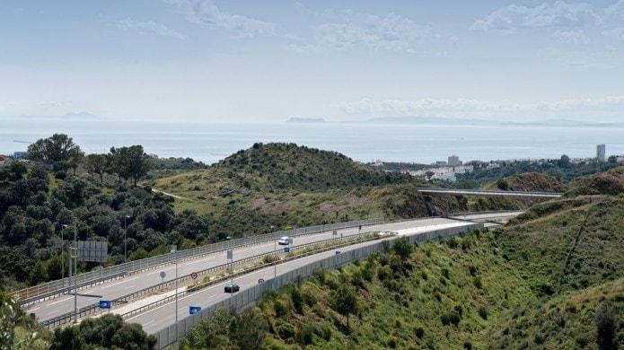 Ferrovial autopista del sol en Malaga