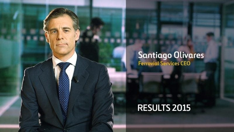 Santiago Olivares Ferrovial Services Results 2015