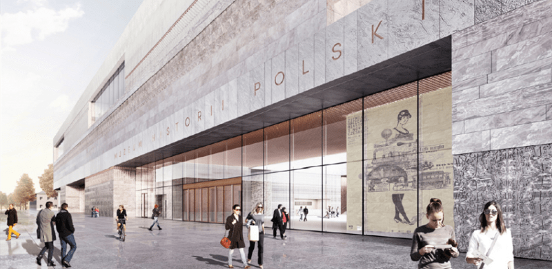 Exterior of the new Polish History Museum to be constructed by Budimex