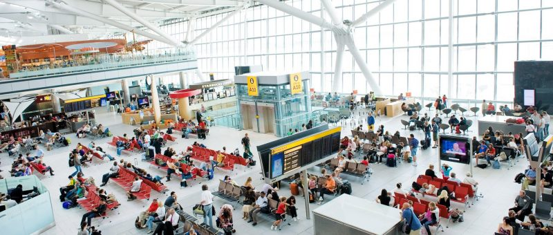 The departure lounge at Terminal 5A Heathrow Airport