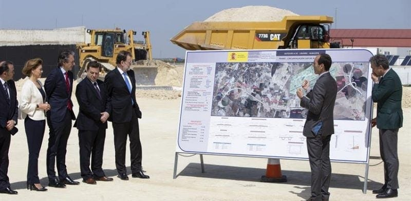 Spanish Prime Minister Maruano Rajoy at Albacete