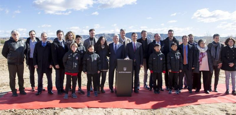 Laying the first stone at the new Atletico de Madrid academy