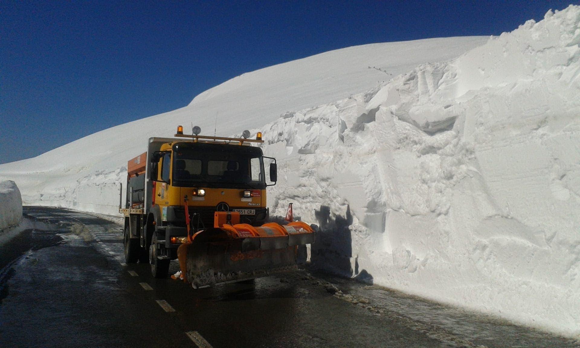 snowploughs road maintenance of snow winter