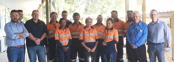 A group of Ferrovial Agroman Australia workers