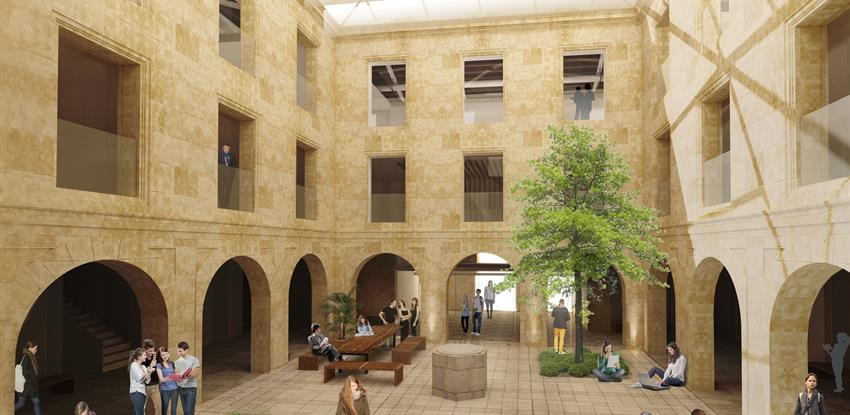 The new building for cursos internacionales at the university of salamanca