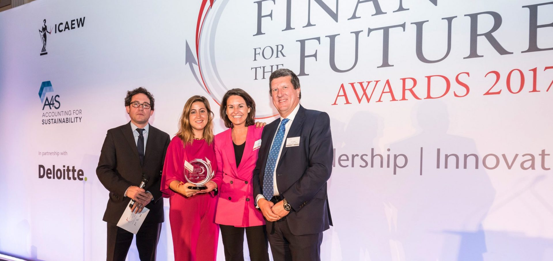 Ferrovial winners at finance for the future awards