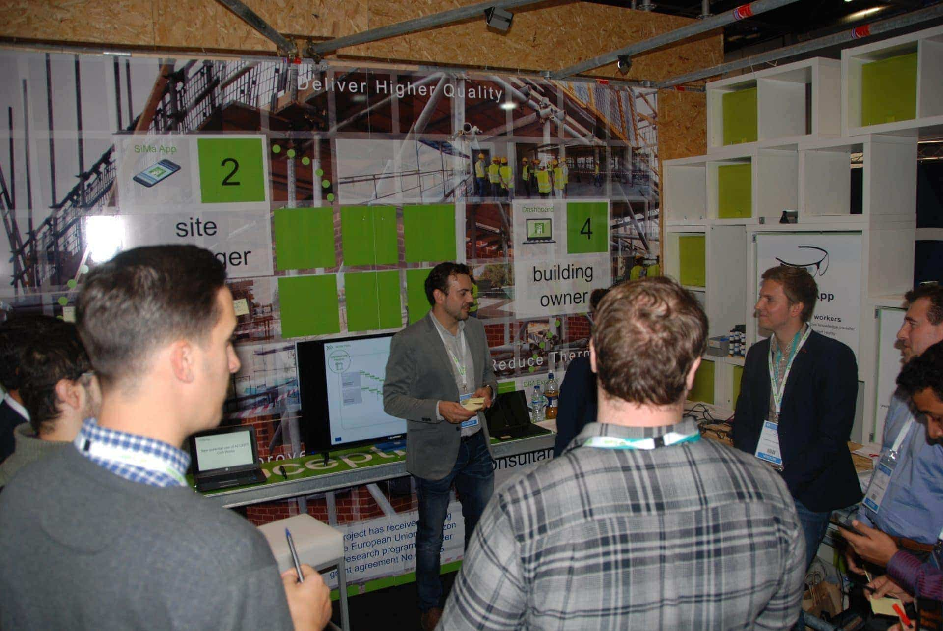 augmented reality in construction at the Digital Construction Week