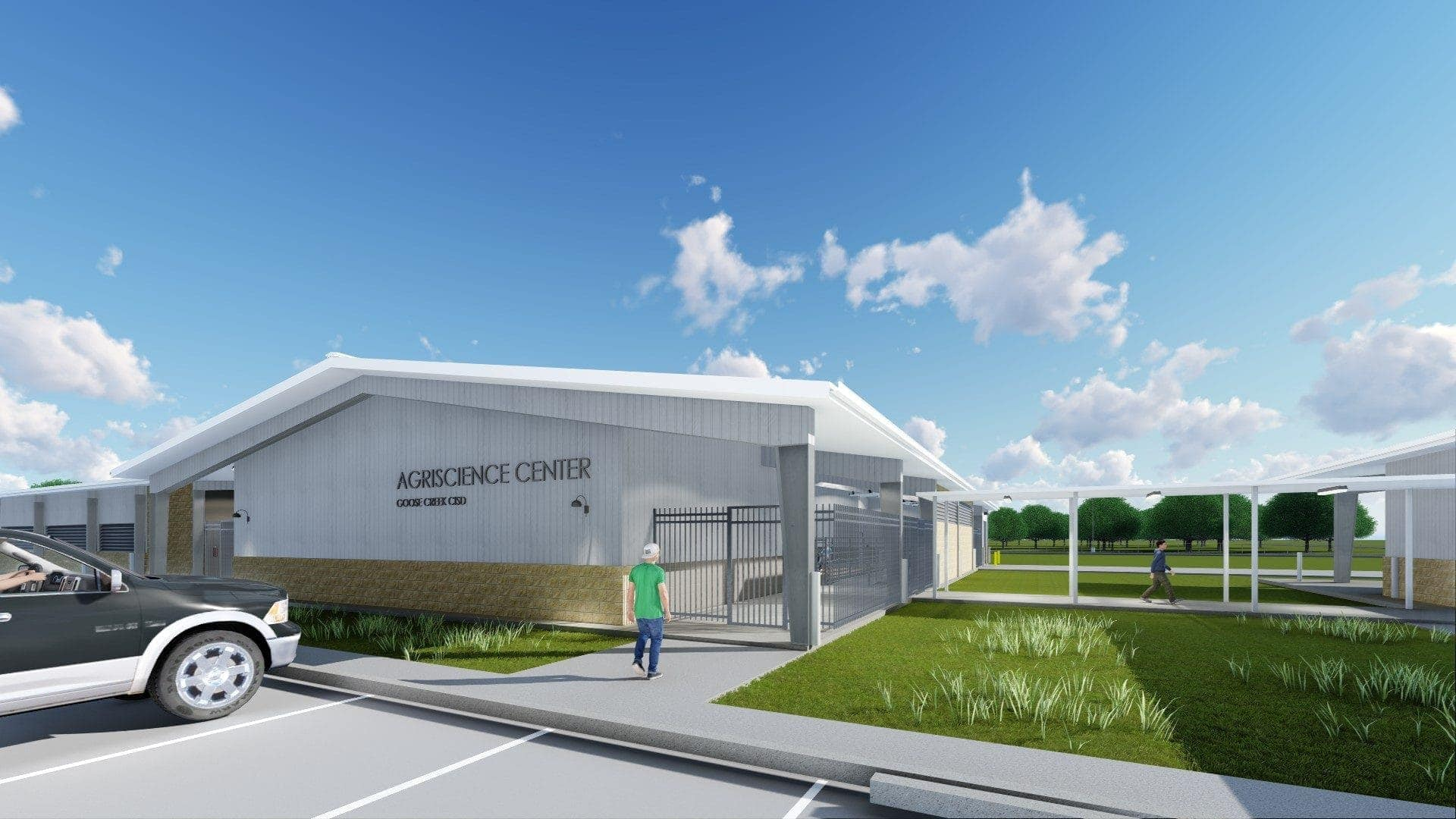 renovation of the Goose Creek agricultural centre in texas