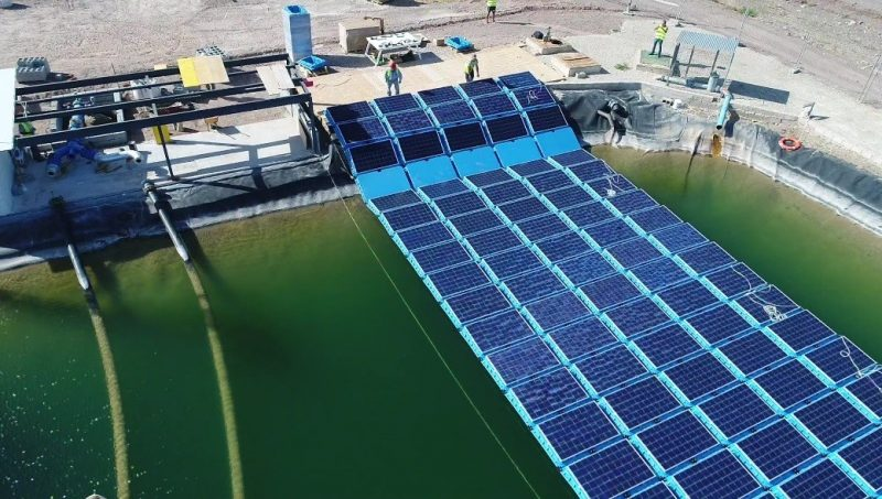 floating photovoltaic generator system user community spain