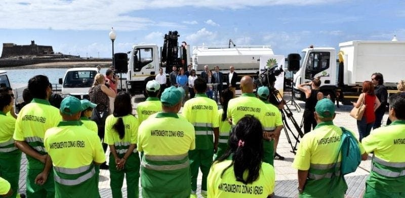 environmental awareness green areas in canary islands