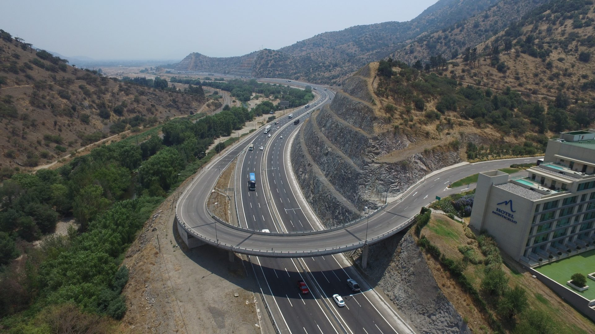 The ruta sur 5 highway in Chile