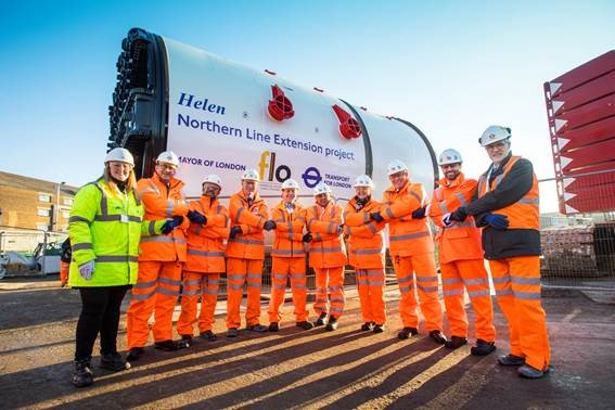 Northern Line extension unveils tunnelling machines in London